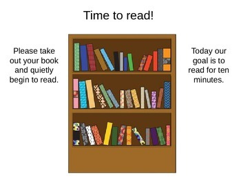 Silent Reading PowerPoint Timer Slides