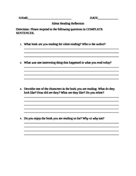 Silent Reading Reflection