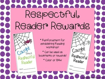 Silent Reading Reinforcement Reward/Bookmark