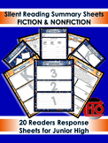 Readers Response Sheets for Any Book - Fiction & Nonfiction