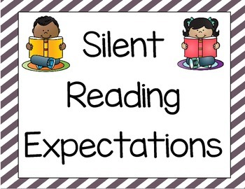 Silent Reading/Writing Expectations Classroom Posters