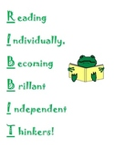 Frog poster for silent reading