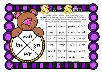 Silent Spin ~ Silent Letter Blends mb kn gn wr