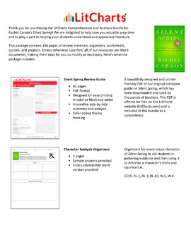 Silent Spring – Comprehension and Analysis Bundle