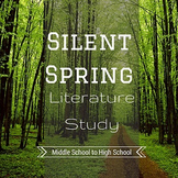Silent Spring Literature Study   Ecology Environment Biology AP Language Arts