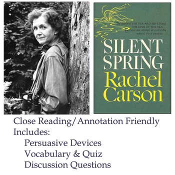 Silent Spring - Rachel Carson - Rhetorical Devices & Persuasion