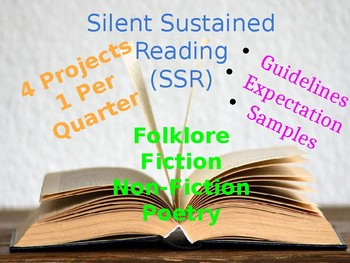 Silent Sustained Reading (SSR) Projects for Every Quarter! (Year Long)
