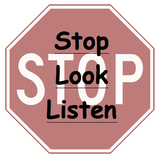 Silent Warning Card: Stop Look Listen