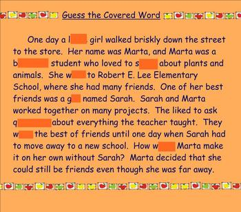 Silent b,h,w word sort and guess the covered word activity