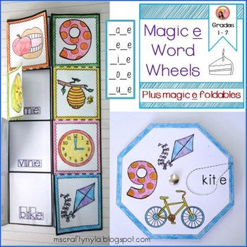Silent e Word Wheels and Foldables