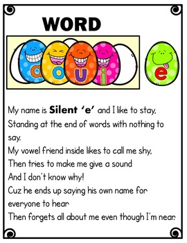 Silent e /CVCe pattern / split digraphs {Poem}
