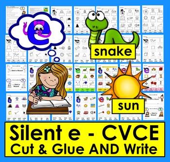 Silent e Cut & Glue & Write the Word SET TWO