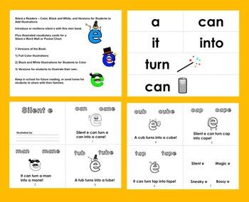 Silent e Mini Book & Vocabulary Cards