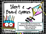 Phonics Games: Silent e Games: 25 Printable Phonics Board Games