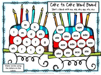 25 Printable Silent e Games for Phonics Centers