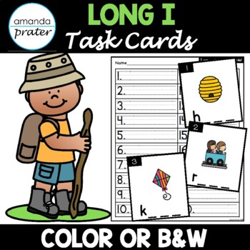 Silent e CVCE Task Cards: Long I (Scoot, Write the Room, Center)