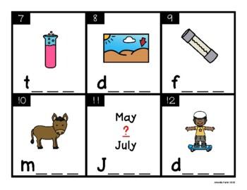 Silent e CVCE Task Cards: Long U (Scoot, Write the Room, Center)