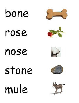 Silent e (CVCe) Picture/Word Matching Game