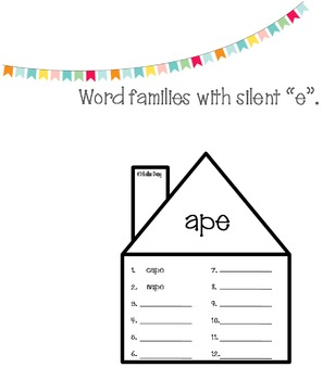 """Silent """"e"""" Center Activities, Games, and Practice"""