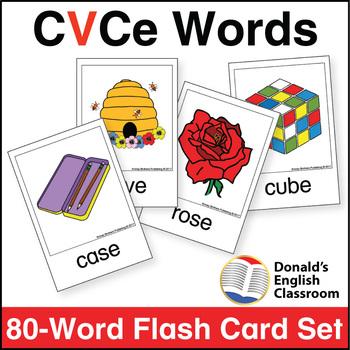 Silent e Flash Card Set