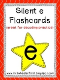 First Grade Phonics: Silent e Flashcards