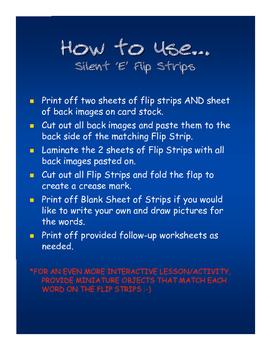 Silent 'e' Flip Strip Cards