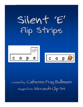 Silent 'e' Flip Strip Cards