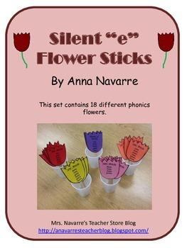 "Silent ""e"" Flower Sticks"