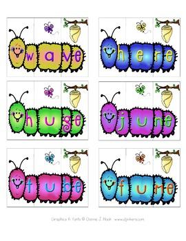 Silent e Fuzzy Wuzzy Caterpillars