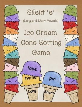 Silent e Ice Cream Cone Sorting Game