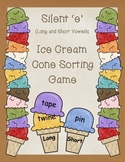 Silent e Ice Cream Cone Sorting Game