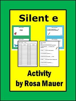 Silent e Task Cards