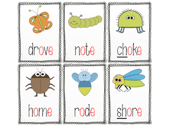 Silent 'e'/Long Vowel Card Game