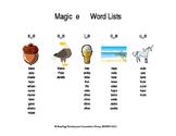 Silent e Long Vowels Word List