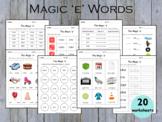 Silent 'e', Magic 'e', Bossy 'e' Words Worksheets, Phonics