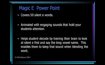 Silent e (Magic e) Decoding Power Point