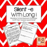 Silent e/Magic e with long I Reading Comprehension Passage and Questions