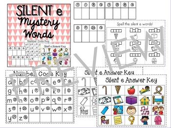 Silent e Mystery Words