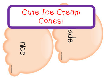 Silent e Phonics Games Ice Cream Cone Theme