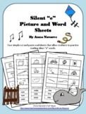 """Silent """"e"""" Picture and Word Sheets"""