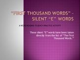 "Silent ""e"" Reading Fluency Powerpoint Show"