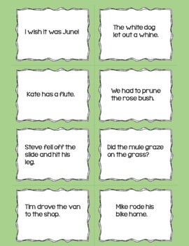 Silent e Reading Fluency Practice Game Uh-Oh!