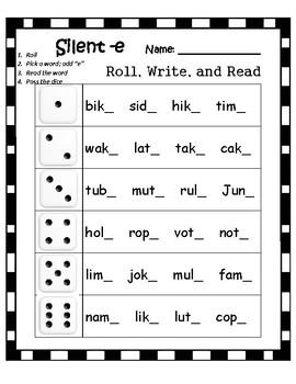 Silent -e Roll n Read