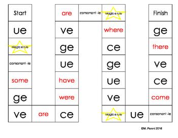 Silent e Rules Board Game
