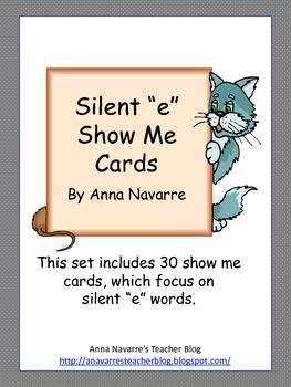 """Silent """"e"""" Show Me Cards"""