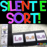 Silent e Sort Activity