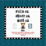 Silent e: Sort it, Spell it, Fill in the Blank Activity