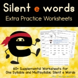 Silent e Syllable Worksheet Packet