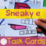 Silent e (Long Vowel) Task Cards (With Self-Assessment!)