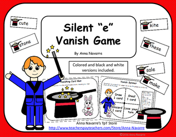 "Silent ""e"" Vanish Game"
